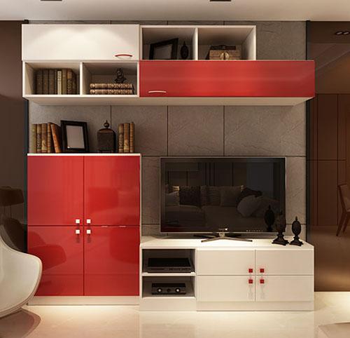 红白电视柜